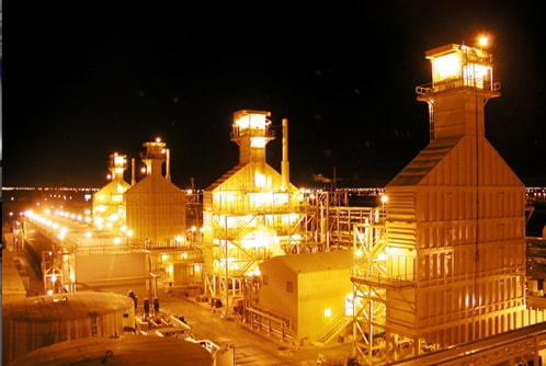 Oil and Gas at Night